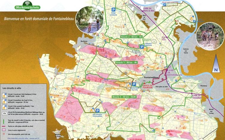 Consultez la Carte ONF promenades velo : www.onf.fr
