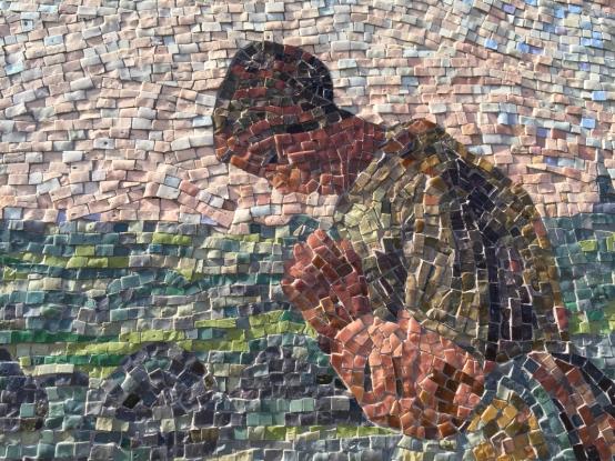 •Détail Angelus mosaique