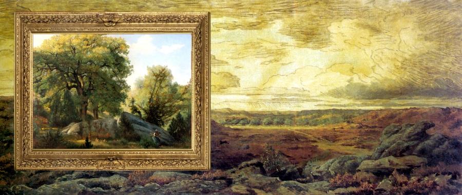 Théodore Rousseau 94 les Gorges d'Apremont Huile sur toile, 79 x 143 cm Copenhogue, Ny Corlsberg Glyplotek
