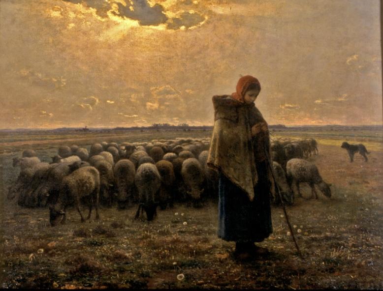 •Millet-La Grande Bergère-5122