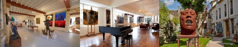 Dans l'ancien Hôtel des Charmettes, au fur de Barbizon, vivez dans le décor prestigieux des artistes contemporains, à la Galerie Besharat