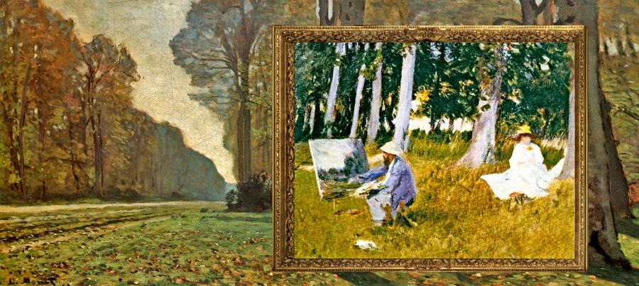 Claude Monet: Le Pavé de Chailly, forêt de Fontainebleau (vers I865). Musée d'Orsay-Paris