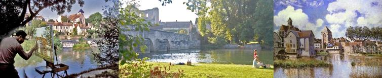 La vallée du Loing des poètes et des peintres : Montigny, Grez, Moret…