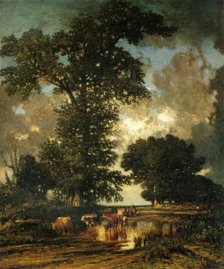 Jules Louis Dupré - La Mare aux chênes -Paris, musée d'Orsay