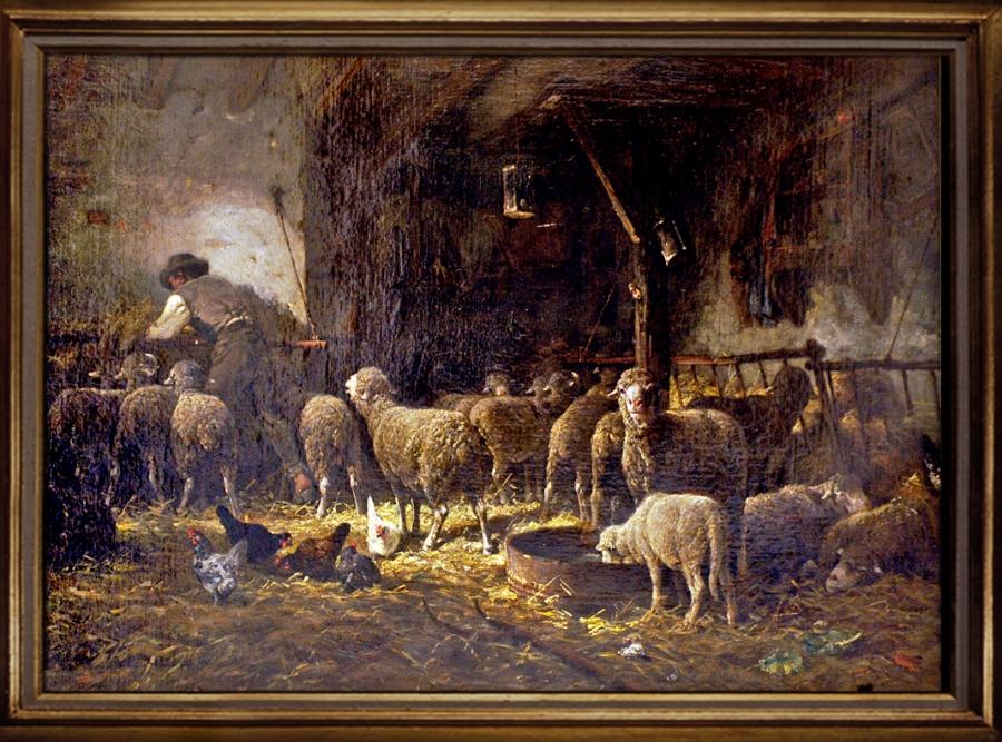 -Charles Emile JACQUE (1813-1894) -La bergerie Musée départemental de l'Ecole de Barbizon