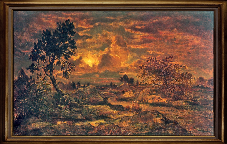 Théodore Rousseau Soleil couchant sur la lande d'Arbonne New York. The Metropolitan Museum of Art