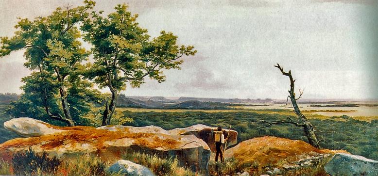 Claude-félix-Théodore Caruelle d'Aligny 2 Vue de Fontainebleau Huile sur toile, 35 x 65 cm Boulogne-Billancourt, bibliothèque Marmottan
