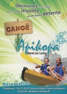 Kayak sur Loing
