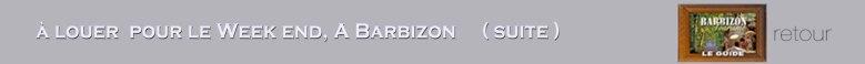 Louer pour week endà Barbizon(suite) PP1N
