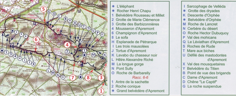 Sentier Denecourt N°6-légendés